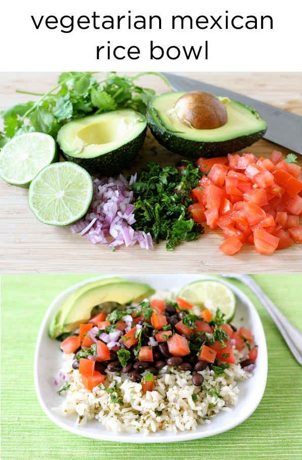 Vegetarian Mexican rice bowl recipe Easy and fast dinner