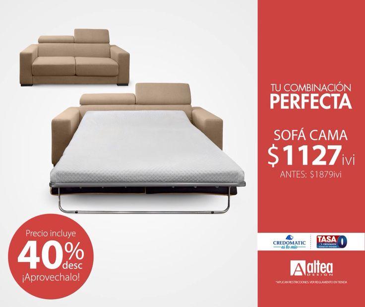 El sofá que combina descanso, comodidad y precio esta para vos solo en Altea.  Disponible en colores: rojo, azul, negro y beige. #LaCombinaciónPerfecta #AlteaDesign