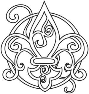 Embroidery Designs at Urban Threads - Faceted Fleur (i would rather get this as a tattoo)