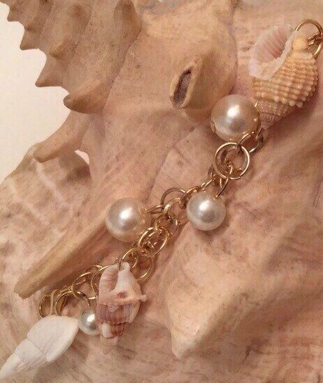 A personal favorite from my Etsy shop https://www.etsy.com/ca/listing/234583559/gold-tone-pearl-and-seashell-charm