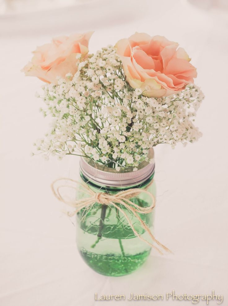1000 ideas about mason jar arrangements on pinterest for 1st birthday girl decoration