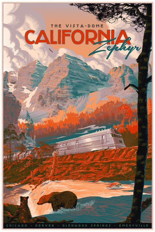 """The Zephyr"" Travel Poster by Laurent Durieux  (Onsale Info)"