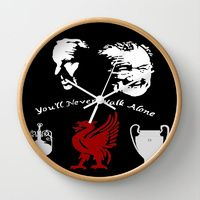 Wall Clock featuring Liverpool FC Godfathers by jt7art&design