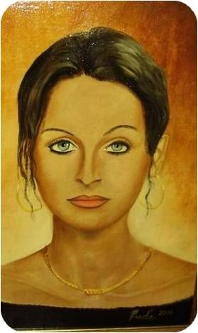 Vladena - portrait- oil painting canvas