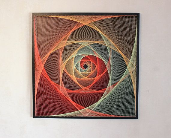 String Art ALL-SEEING Auge heilige Geometrie psychedelischen