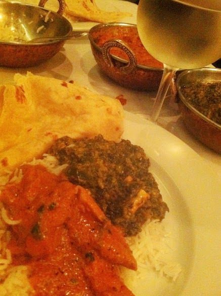 Meal at Maharaja, Indian restaurant near Chicago's O'Hare Airport