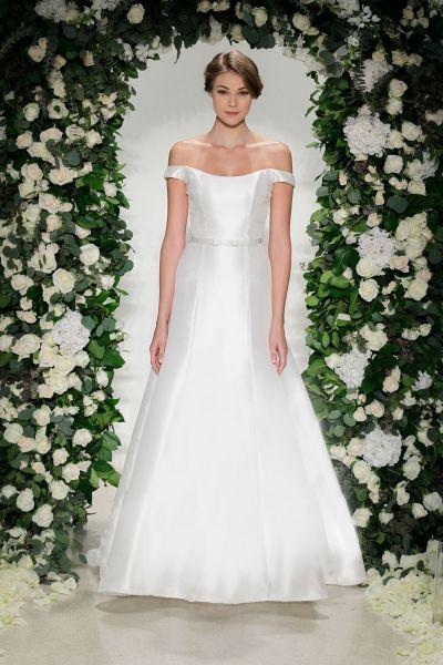 Vestidos de novia línea A 2017: 40 diseños para lucir una figura estilizada y entallada Image: 38