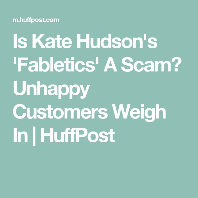 Is Kate Hudson's 'Fabletics' A Scam? Unhappy Customers Weigh In | HuffPost