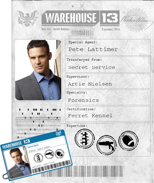 Pete Lattimer - Warehouse 13 (Eddie McClintock)