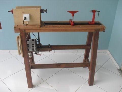 Torno para Madeira Feito em Casa (Wood Lathe Homemade)