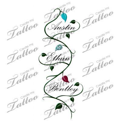 children names vine tattoos and vines on pinterest. Black Bedroom Furniture Sets. Home Design Ideas