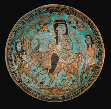// A rare Kashan Minai Bowl depicting Faridun, Kava and Zahhak, Persia, late 12th/early 13th century