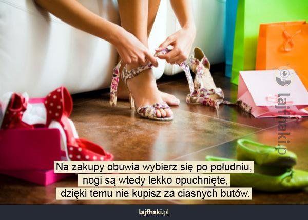 Jak kupować buty? - pomysły, triki, sposoby, lifehacki, porady