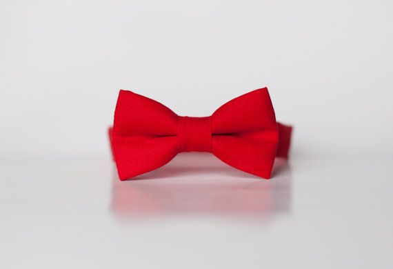 Little Boy red Bowtie solid  Red tie-  Boys Bow Ties  - Baby bow tie - toddler bow ties on Etsy, $12.95