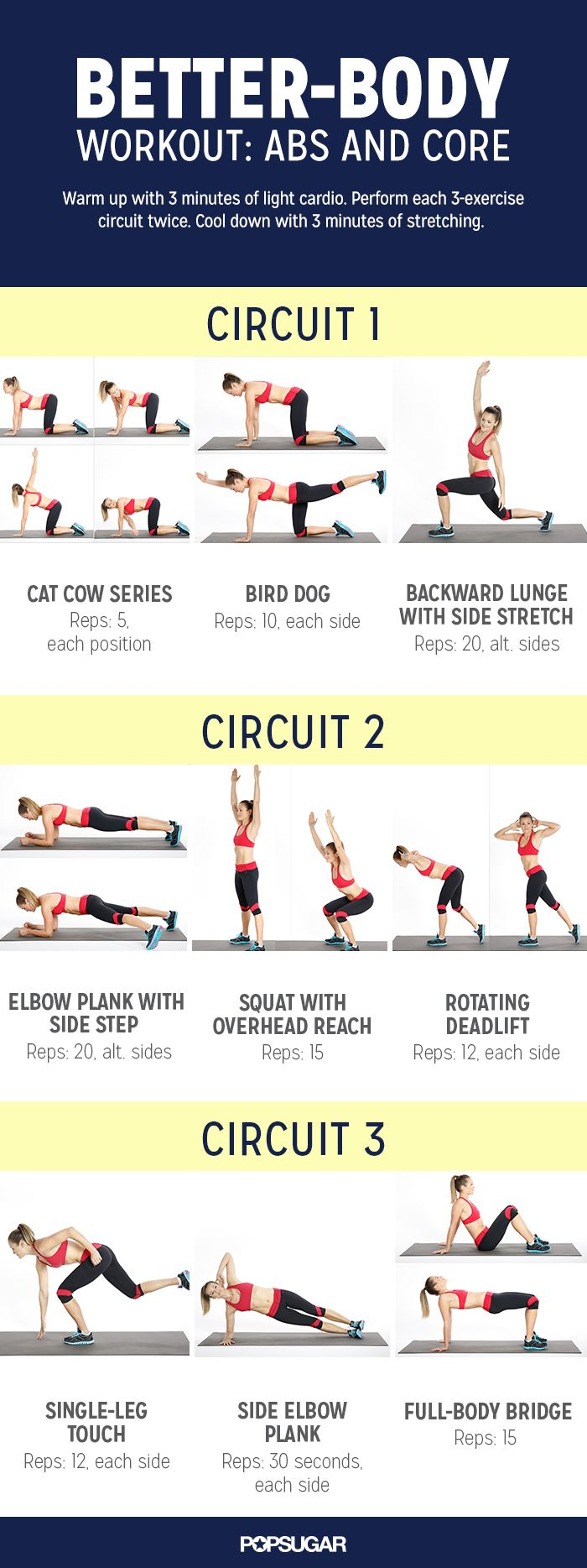 This workout targets the core (abs and back) and glutes for a stronger 2015. The bodyweight circuit takes just under 30-minutes!