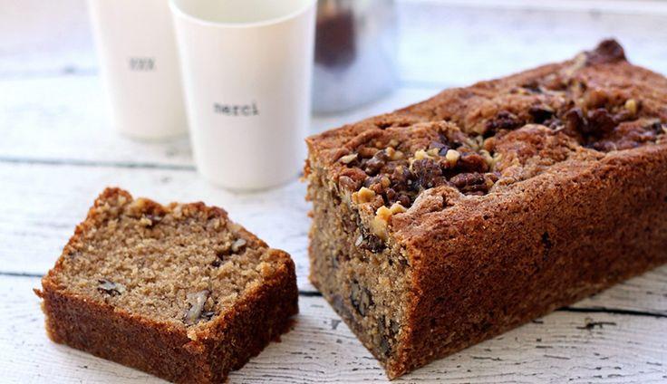 Deze walnotencake met kaneel en vanille is de de ideale traktatie voor visite. Of gewoon lekker aan…