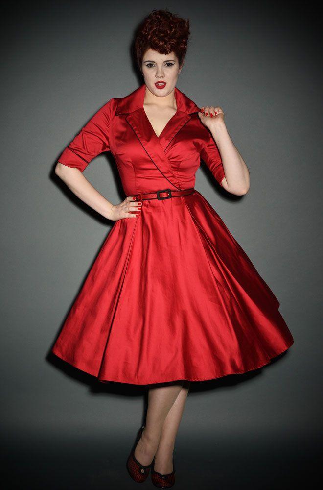 Vintage red dress uk