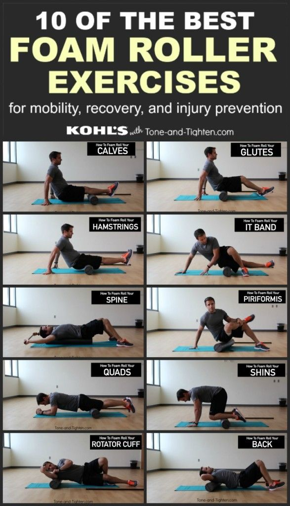 10 of the best exercises you can do with a foam roller. From the physical therapist at Tone-and-Tighten.com