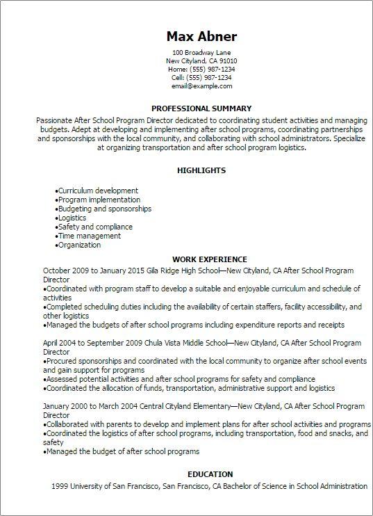 9 best Gemstones images on Pinterest Resume examples, Sample - after school worker sample resume
