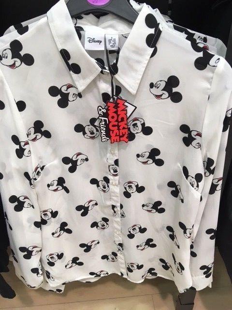 597e5c9c7 DISNEY LADIES MICKEY MOUSE Shirt Blouse Top Primark in 2019 ...