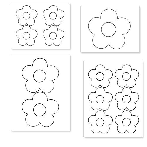 daisy cut out template - printable flower shapes to cut out from printabletreats