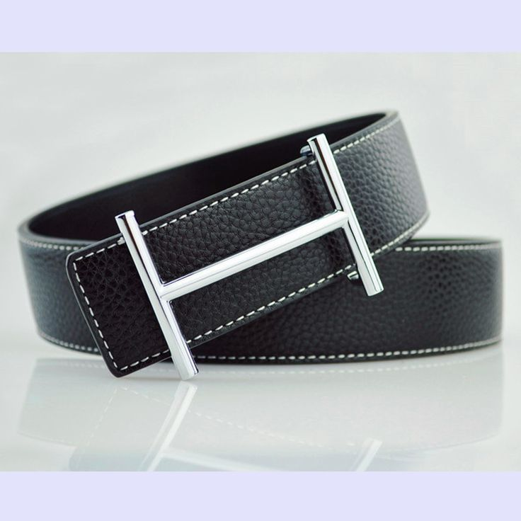 Classy Leather belt with eye-catching buckle