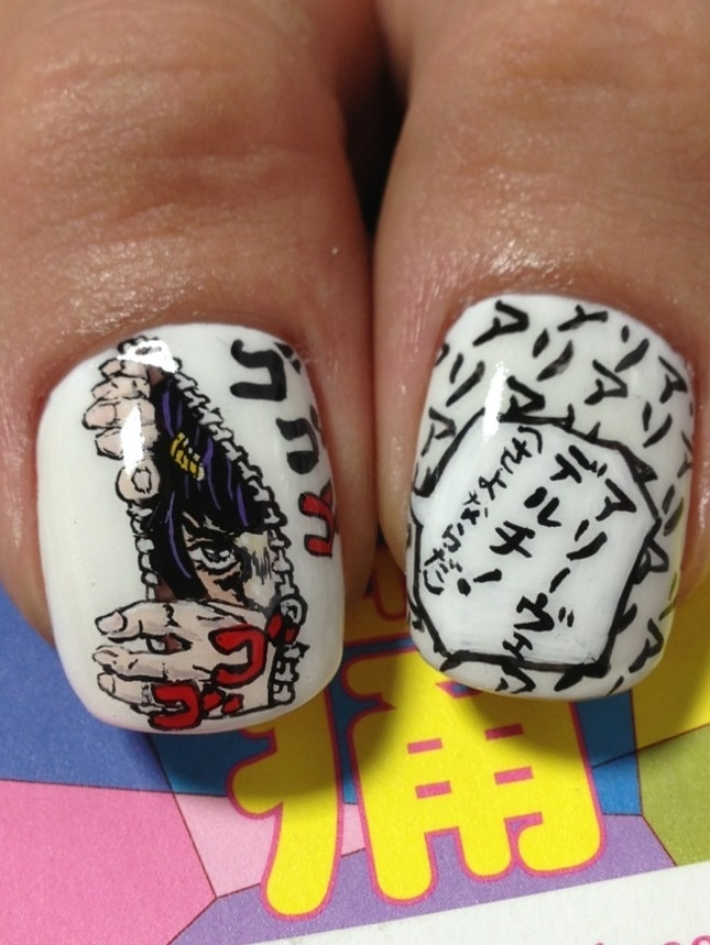 JoJo's Bizarre Adventure nail art by ai suzuki