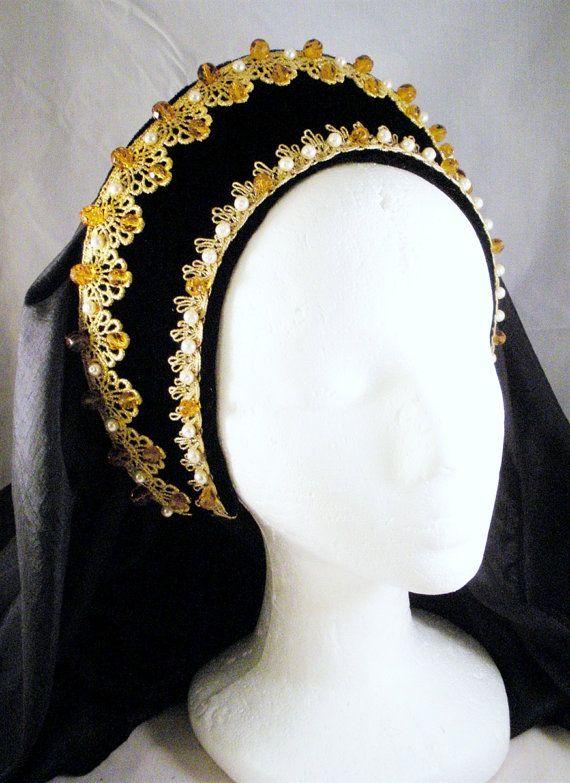 Renaissance French Hood, Tudor Headpiece, Anne Boleyn ...