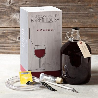 Wine Making Kit #williamssonoma.  Hmm - would be interesting to see how this turns out.
