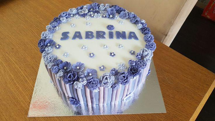 Purple paars bloemen taart cake