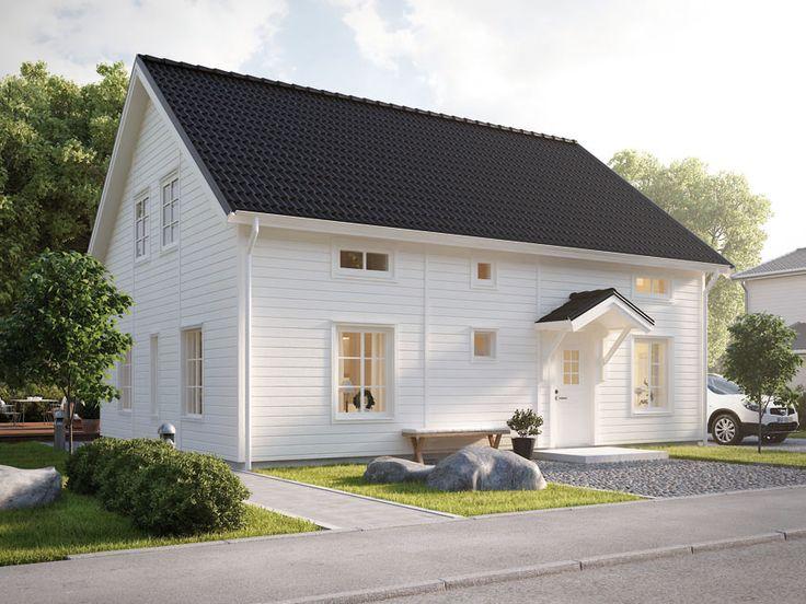 Billigare hus med förhöjt väggliv - Smart 75+ från Myresjöhus