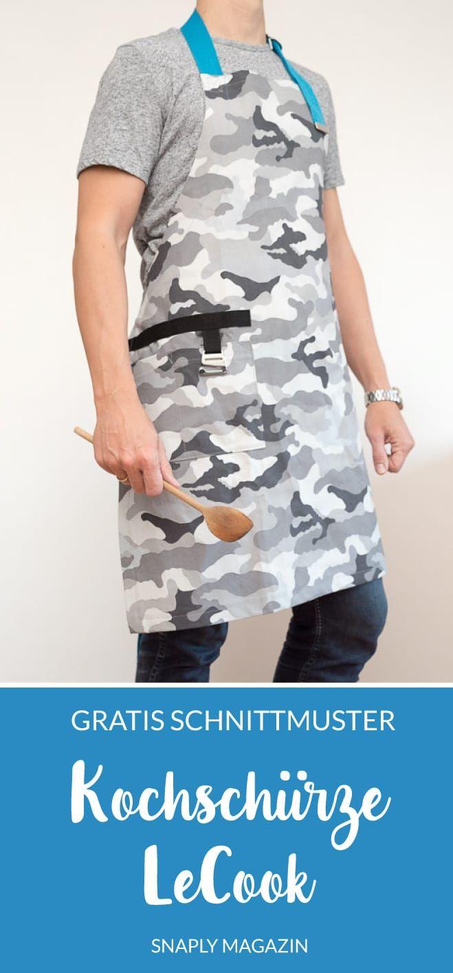 Kostenloses Schnittmuster: Kochschürze LeCook