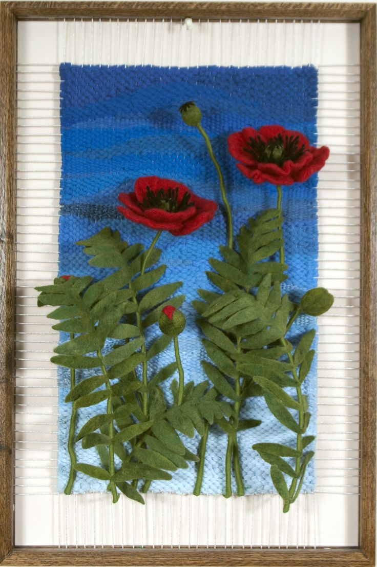 "Martina Celerin Dimensional Weaving ""Poppies,"" I love her work!..."