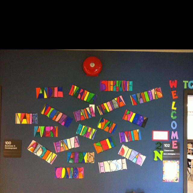 Name art #names #writing #literacy #art #preschool #preschooart #prek