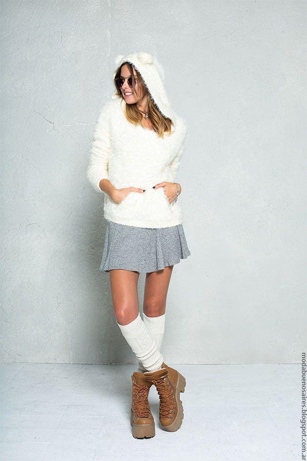 Moda invierno 2016 ropa 47 Street minifaldas y sweaters.
