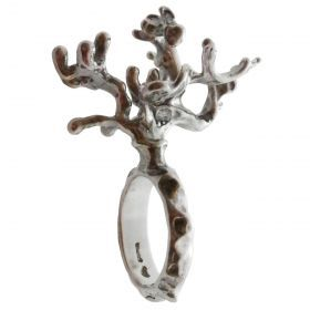 Astral Coral ring Art jewelry. Single piece, silver 925.