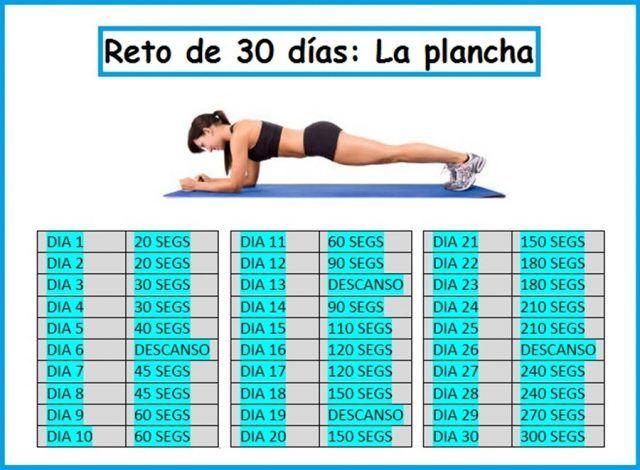 Plank es el ejercicio abdominal que más músculos trabaja en menor tiempo. Obtén un cuerpo nuevo en sólo 28 días, invirtiendo muy pocos minutos diarios. Anuncios El tratamiento con plank se desarrolló para demostrar que un sólo ejercicio es capaz de poner en forma el cuerpo. Tú también puedes lograrlo si llevas a cabo un …