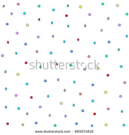 Seamless pattern with colorful beads. Vector illustration.