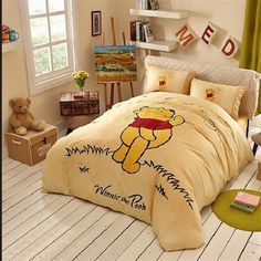 Duvets Covers Yellow Winnie Pooh Classic Bedding In The Grass Winnie Pooh Bed In A Bag Bedding Sets Baby Cheap Bed Sheets From Beddingoutlet, $72.26  Dhgate.Com