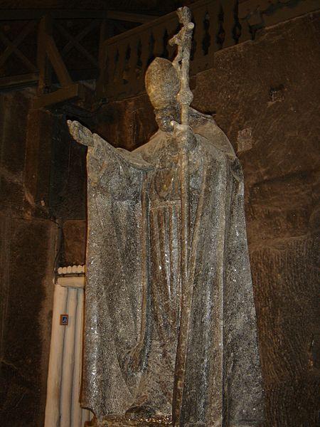 Pope John Paul II carved from salt