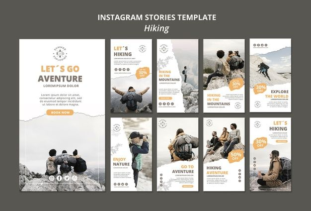 Download Hiking Instagram Stories Template For Free In 2020 Instagram Story Template Instagram Story Story Template