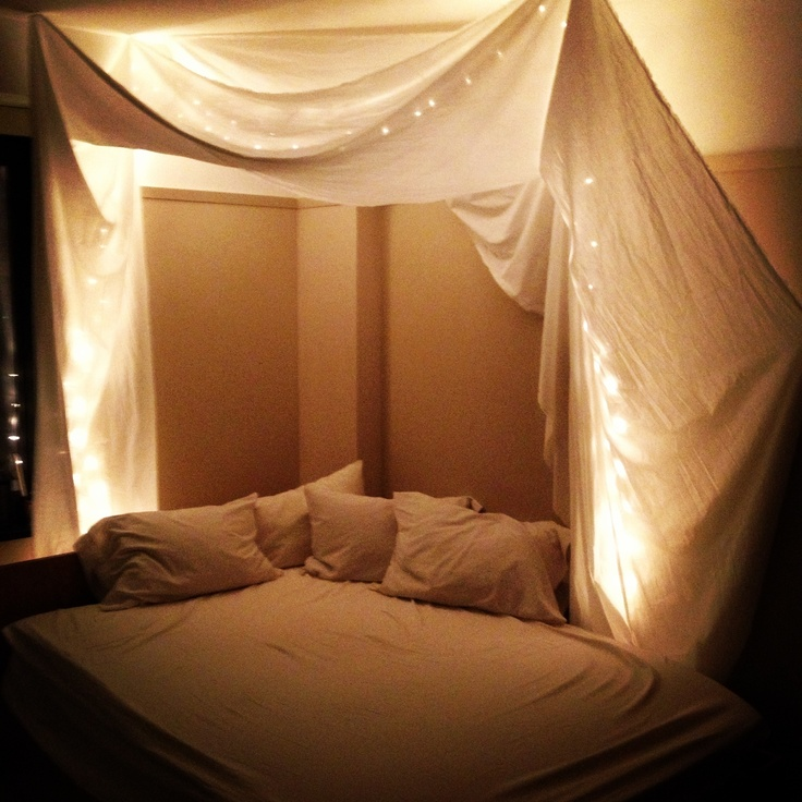 Drapes For Bed fabric bed drapes | things i love | pinterest