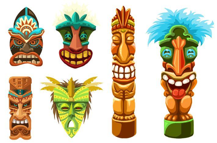 Tiki Art   Diane Schulz - Character Designs