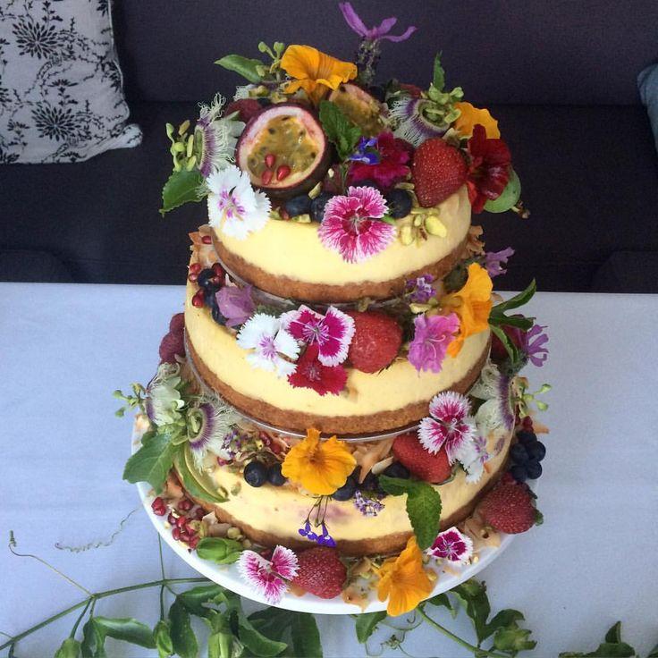Wedding Cake Cheesecake tower! T-B lemon, vanilla bean & fresh strawberry…