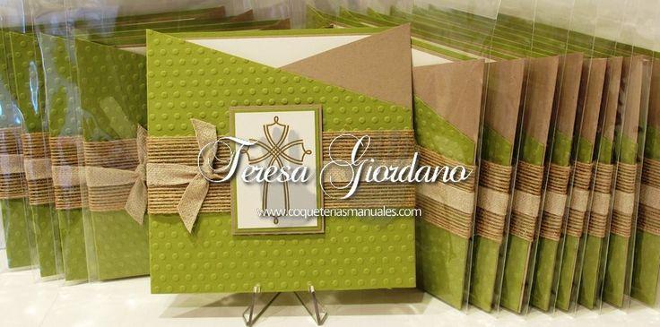 Invitaciones de Primera Comunion www.coqueteriasmanuales.com