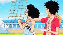 Wow!! this episode of one piece Gold just came out Friday July 8th 2016 and people have already made a gif !!! NOT THAT I AM COMPLAINING THIS IS FUNNY :3 ☆