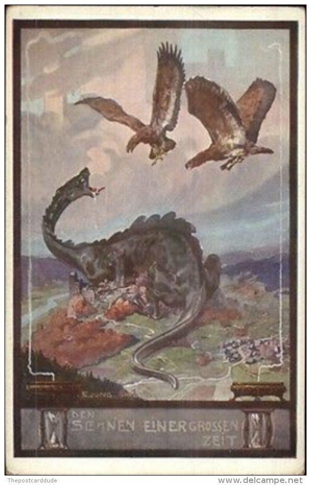 Dragon On City Fantasy FA. Jung. Graz 1911 Den Soenen Einergrossen Zeit PC - Illustrators & Photographers