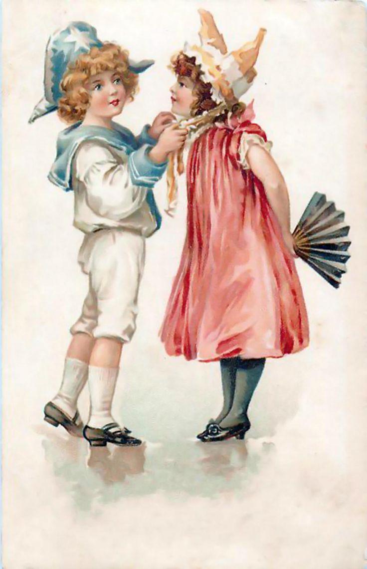 История ретро открытки, поздравляю