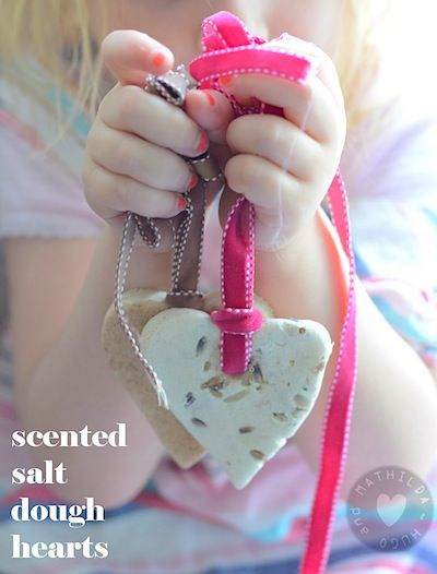 Scented Salt Dough Hearts (The Crafty Crow)