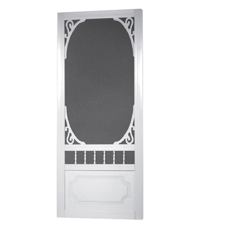 Screen Tight 36 in. x 80 in. Belle Harbour Solid Vinyl White Screen Door